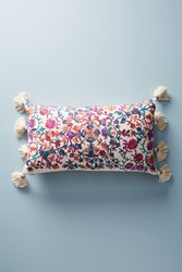 Anthropologie Embroidered Melika Pillow Cream