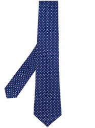 Kiton Micro Geometric Pattern Tie Men Silk One Size Blue