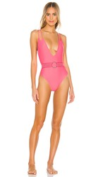 Ellejay Coco One Piece In Pink. Salmon