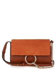Chloe Faye Small Suede And Leather Shoulder Bag