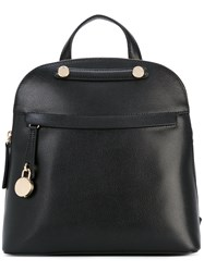 Furla Paiper Backpack Women Calf Leather One Size Black