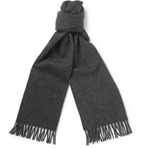 A.P.C. Wool And Cashmere Blend Scarf Gray