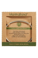 Mantraband Women's Peace Comes From Within Engraved Silver