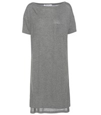 Alexander Wang Classic Jersey T Shirt Dress Grey