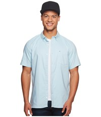 Hurley Dri Fit One Only Short Sleeve Woven Ocean Bliss Clothing Blue