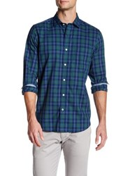Nautica Classic Fit Spread Collar Plaid Shirt Blue