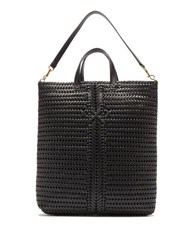 Anya Hindmarch The Neeson Woven Leather Tote Bag Black