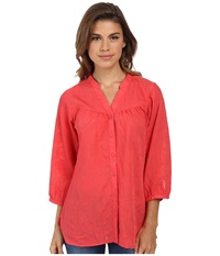 Exofficio Next To Nothing Artisan Grenadine Women's Long Sleeve Button Up Red