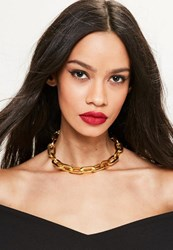 Missguided Gold Link Chain Choker Necklace