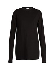 Raey Long Sleeved Cotton Jersey T Shirt Black