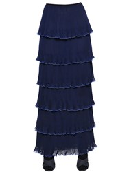 Mary Katrantzou Pantheon Tiered Plisse Georgette Skirt