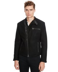 Kenneth Cole Reaction Faux Leather Moto Jacket