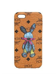 Mcm Rabbit Print Faux Leather Iphone 5 Case