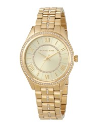 Michael Michael Kors 38Mm Crystal Encrusted Bracelet Watch Gold