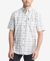 G.H. Bass And Co. Men's Plaid Explorer Fishing Shirt Pewter