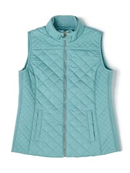 Dash Rib Side Nylon Gilet Blue