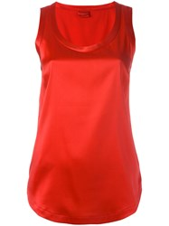 Brunello Cucinelli Scoop Neck Tank Top Red