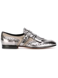 Santoni Buckle Loafers Metallic