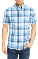 Southern Tide Men's Crystal Shores Classic Fit Plaid Short Sleeve Sport Shirt