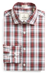 Todd Snyder Trim Fit Plaid Dress Shirt Red