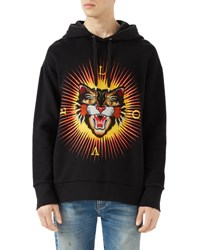 Gucci Cotton Sweatshirt With Angry Cat Appliqu And 233 Black