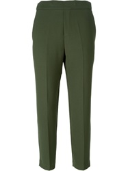P.A.R.O.S.H. Classic Cropped Trousers Green