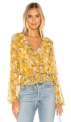 Show Me Your Mumu Brewster Top In Yellow. Flirtin Floral