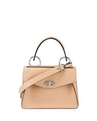 Proenza Schouler Hava Small Leather Top Handle Satchel Bag Warm Sand