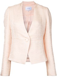 Carven Textured Fitted Jacket Pink Purple