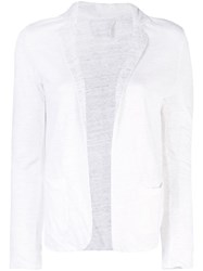 Majestic Filatures Classic Fitted Blazer White