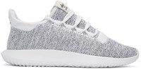 Adidas Originals White And Black Tubular Shadow Knit Sneakers