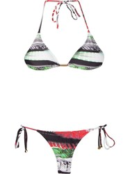 Lygia And Nanny Printed Triangle Top Bikini Set