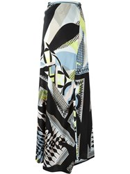Antonio Berardi Geometric Print Long Skirt Multicolour
