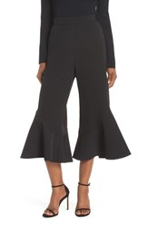 Eliza J Flutter Crop Pants Black
