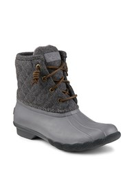 Sperry Saltwater Quilted Wool Blend Boots Grey