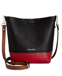 Calvin Klein Reversible Novelty Messenger Red Black Luggage