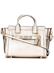 Coach Small 'Swagger' Crossbody Bag Metallic