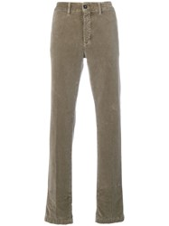 Massimo Alba Textured Trousers Brown