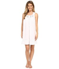Eileen West Timeless Chemise Solid White Women's Pajama Metallic