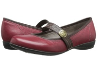 Naturalizer Garrison Dark Venom Bridal Brown Leather Women's Maryjane Shoes Red