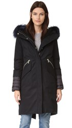 Soia And Kyo Carolann Parka With Fur Black