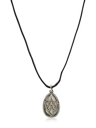 Jade Jagger Chevron Shield Diamond Pendant Necklace