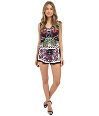 Nicole Miller Tribal Mystic La Plage Romper Multi Women's Jumpsuit And Rompers One Piece