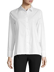 August Silk Poplin Lace Up Blouse White