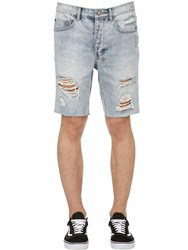 Ksubi Axel Short Dirty Harry Denim Shorts Blue