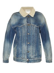 Golden Goose Kinney Shearling Lined Denim Jacket