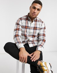 Esprit Check Shirt In Cream And Red