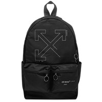 Off White Unfinished 3M Arrows Backpack Black