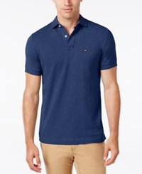 Tommy Hilfiger Men's Classic Fit Ivy Polo Diamond Blue Heather
