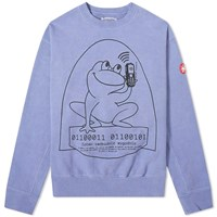 Cav Empt Embroidered Frog Mobile Crew Sweat Blue